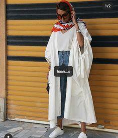 Iranian Women Fashion, Muslim Fashion, Hijab Fashion, Girl Fashion, Fashion Dresses, Fashion Looks, Womens Fashion, Dubai Fashionista, Painted Clothes