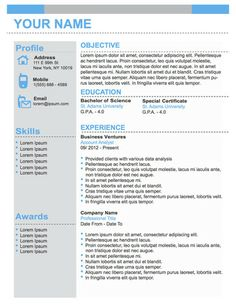 conservative professional business resume template original resume design - Templates For A Resume
