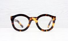 Unused Oval Tortoise Glasses Oversize Thick Frames by Antiqueelse
