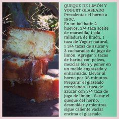 """""""Receta de Queque de Limón y Yogurt Glaseado"""" Photo taken by @virginiademariaoficial on Instagram, pinned via the InstaPin iOS App! http://www.instapinapp.com (09/13/2015)"""