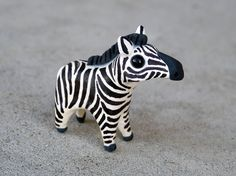 Tiny zebra  Handmade miniature polymer clay by AnimalitoClay, $28.00