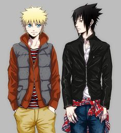 I just really enjoy anime characters in modern clothes...it seems more real :P