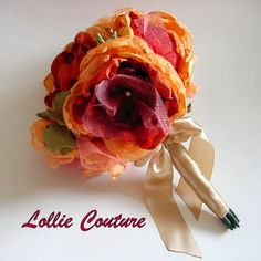 Bridal Bouquets  Handmade fabric Bouquets  custom by lolliecouture, $208.00