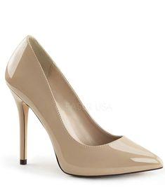 09ddee82d786 Nude Patent Leather Amuse Heels. Vintage TopsUnique ...