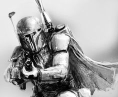 Boba Fett Art, Boba Fett Mandalorian, Star War Episode 3, Cuadros Star Wars, Greatest Villains, Bounty Hunter, Sci Fi Fantasy, Pics Art, Star Wars Art