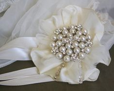 corsages for mother of the bride   Brooch Wrist Corsage- Wedding Brida l Jewelry- Mothers of the Bride ...