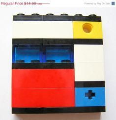 ON SALE Geek chic Primary Colors brooch made by MademoiselleAlma, $10.49