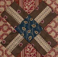 ' Railroad Crossing ' quilt block          ||     Barbara Brackman  Civil War Quilt