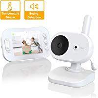 comme Interphone pour Parents et B/éb/é Grand Angle de Vue Temp/érature Surveillance HBF /Écoute-b/éb/é Babyphone Baby Monitor 2,0/'/Écran LCD 2.4GHZ Bidirectionnel avec Vision Nocturne