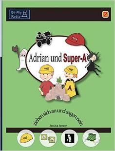 """Mach mit, wenn Adrian und Super-A ein neues alltägliches Abenteuer mit ihren lustigen Freunden erleben in diesem zweiten Buch. Wann sollten wir einen Erwachsenen um Erlaubnis fragen? Wie sollen wir abwechselnd entscheiden, was wir spielen sollen? Wie machen wir uns jeden Morgen fertig ... und was, wenn unser Lieblings-T-Shirt schmutzig ist? """"Adrian und Super-A"""" ist eine interaktive Buchreihe für Kinder mit Autismus und ADHS, sie kann an das Alter und die Fähigkeiten der Kinder angepasst…"""