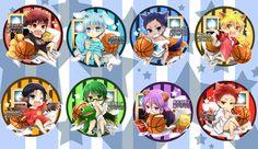 Kao (choco*icz), Kuroko no Basuke, Kagami Taiga, Kuroko Tetsuya, Akashi Seijuurou, Midorima Shintarou