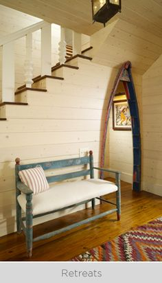 Lovely space. Love the boat door!
