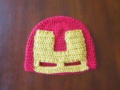 Iron Man Avenger Hat Free Crochet Pattern