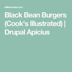 Black Bean Burgers (Cook's Illustrated) | Drupal Apicius