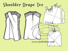 Shoulder Drape Tee #PatternPuzzle from well-sited by Studio Faro.