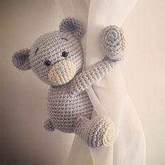 Teddybär Vorhang-Krawatte-Rücken ein paar von niceandcosee auf Etsy