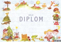 Diplom A5 tábornický – Knihkupectví Neoluxor Crafts For Kids To Make, How To Make, Luxor, Decoupage, Kindergarten, Education, Diagram, Petra, Graduation