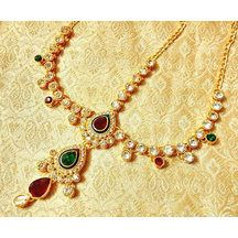 Multi-coloured Maathapatti With Stones