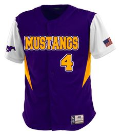 Check out this show pony!  Custom jerseys designed by Mustangs Baseball and created at Sport & Cycle in Fortuna, CA! http://www.garbathletics.com/blog/mustangs-baseball-custom-jerseys/ Create your own custom uniform at www.garbathletics.com!