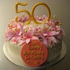 Elegant Birthday Cakes For Women - Bing Images Fancy Wedding Cakes, Elegant Birthday Cakes, Elegant Cakes, Fancy Cakes, 50th Birthday Cake Images, 50th Birthday Cake For Women, Birthday Ideas, 60th Birthday, Happy Birthday