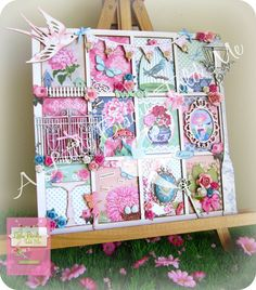 Spring Bliss Printer Tray by A Little Birdie Told Me (copyright protected) https://www.facebook.com/pages/A-Little-Birdie-Told-Me/153480098014671