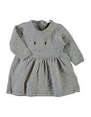 Animal Graphic Long Sleeve Dress