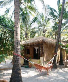 Found: Your Perfect Goa Beach Hut: Palm Grove and Little Palm Grove, Ashvem Surf Shack, Beach Shack, Macau, Places Around The World, Around The Worlds, Places To Travel, Places To Visit, Goa India, Beach Bungalows