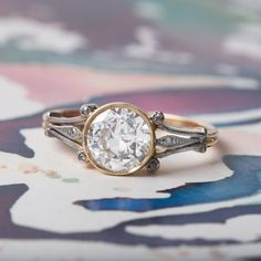 Art Nouveau Solitaire Ring | Earlmar Drive from Trumpet & Horn #solitairering