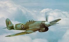 Hawker Typhoon 1b in flight (Date and location unknown)