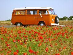 Our 1975 Westfalia camper combi bay-window Volkswagen Dandelion shot in France, Baie de Somme.