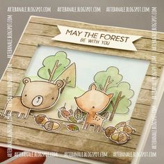 May the forest be with you#cardmaking #cards #autumn#mftstamps #forestfriends #stamps#shakercard #shakerbox