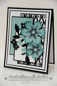 Stampin' Up - Beautiful Bunch; Back to Black DSP