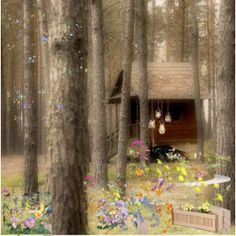 Soft as a breeze. Cabins, Breeze, Discovery, Woods, Heaven, Journal, Painting, Shelters, Sky