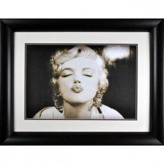 Marilyn Monroe Kiss wall art