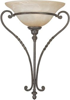 Glomar 1 Light Old Bronze Sconce With Tuscan Suede Glass Shade