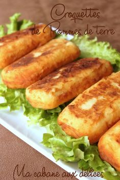 Recipe potato croquettes, or gourmet house potato, easy and quick which can be present on the Ramadan tables as a … Healthy Dinner Recipes, Snack Recipes, Fingers Food, Crockpot Recipes, Cooking Recipes, Food Porn, Health Dinner, Cordon Bleu, Potato Recipes
