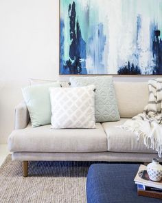 4 property styling tips to achieve the best sale price! Nautical Design, Nautical Home, Space Interiors, Coastal Homes, Gold Coast, Beach House, Love Seat, Living Room, Interior Design