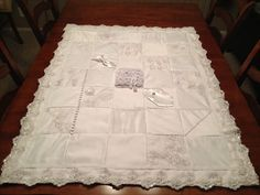 Quilt Made From My Wedding Dress Wedding Dress Crafts inside What To Do With Old Wedding Dresses - Wedding Party Ideas Wedding Dress Quilt, Old Wedding Dresses, Wedding Dress Crafts, Wedding Gowns, Bridesmaid Dresses, Wedding Quilts, Diy Wedding, Wedding Purse, Wedding Ideas