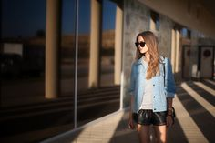 Boyfriend denim jacket http://www.fashion-agony.com/2014/09/leather-denim.html