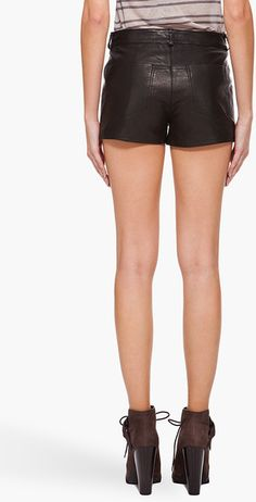6ee03b95b5ed tiawong on Lyst ALEXANDER WANG Leather Shorts