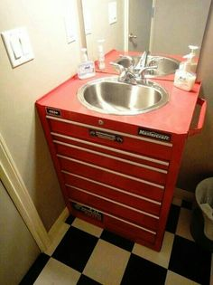 Cool idea for an old tool chest.