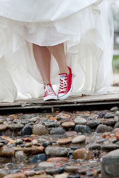 "Fun red bridal shoes, if they were blue you'd get 2 out of 3 from that saying ""something blue, something borrowed, something new"""