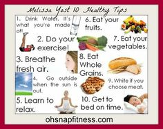 10 health tips - fitness training healthy eat plans strong body Healthy Foods To Eat, Healthy Habits, Healthy Tips, Healthy Choices, How To Stay Healthy, Healthy Eating, Healthy Recipes, Clean Eating, Healthy Teeth