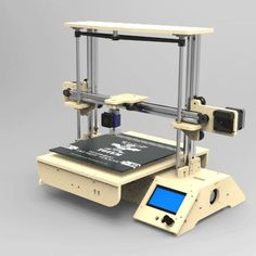 The Totem project, so that we can use simple materials to build a beautiful and practical 3 d printers Totem project has been completed, but there is Cnc Software, 3d Printing Diy, Open Source Projects, Diy Cnc, Computer Setup, Laser Printer, Linux, Arduino, Print Design