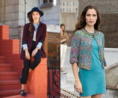 Look courtesy of Refinery29. Pattern is the One-Button Jacket in Filatura di Crosa TEMPO.