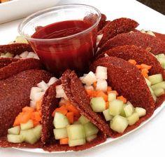 Taquitos de tamarindo con fruta fresca