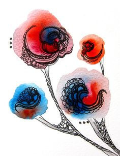 mixed media - silk paints/transfer dyes/silk prints with riso