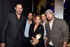 The MMXXL boys and J-Lo at the MTV Movie Awards (April 2015)