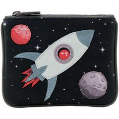 Yoshi Fly Me To The Moon Applique Leather Zip Top Coin Purse - £15.00 available from www.kubi.co.uk - New for the Autumn Winter 2013 AW13 season. Yoshi Y1723-SP - #space #rocket #rockets #moon #planet #planets #purse #purses #leather #leatherpurse #leatherpurses #fashion #womensfashion #travel #money #presents #gifts #present #gift #kubi #yoshi