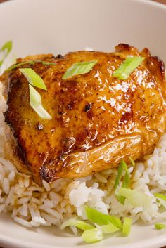 Honey-Lime Chicken: Basic chicken and rice gets a sweet and tangy twist.